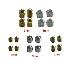 M4 M5 M6 Grub Screw Door Handles Spindle Brass Silver Stainless Steel Finish