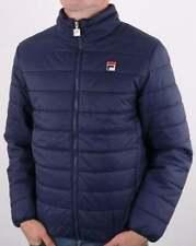 Fila Puffer Jacket in Navy Blue - padded jacket, puffa coat, funnel neck