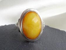 Natur Bernstein Butterscotch Ring, Silber 800, antique natural baltic amber ring