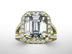 5.00 CT EMERALD CUT H SI1 DIAMOND SOLITAIRE ENGAGEMENT RING 18K WHITE GOLD