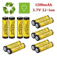 LOT 14500 3.7V 1200mAh Li-ion Rechargeable Battery Cell For Flashlight Torch USA