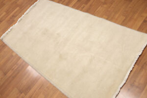 """3'3"""" x 6' Hand Knotted Traditional Oriental Wool runner Area rug AOR8524 Beige"""