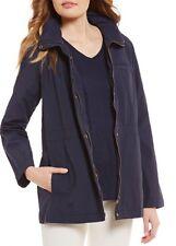 NWT Eileen Fisher Midnight Light Organic Cotton Nylon Jacket Sz PL $258