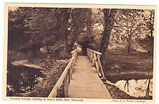 WOODEN BRIDGE  GUY'S CLIFFE MILL  WARWICK ENGLAND POSTCARD
