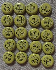 20 Yellow Schweppes Bottle Tops Crown Cap.