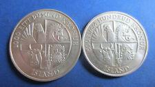 Island Silber 500+1000 Kronur 1100 Jahre Island 1974 in unc (4093)