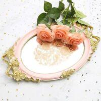 Mirror Storage Tray Rose White Blue Jewelry Food Dish Wedding Serving Decoration