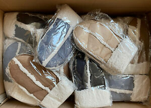 30 FAUX SUEDE MITTENS WARM WINTER FAUX WOOL SOFT LINING 4 CLRS WHOLESALE JOB LOT