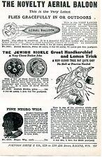 1926 small Print Ad of Aerial Balloon Jewish Nickle & Negro Wig Black Americana
