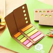 1PC Fashion Kraft Paper Cover Colorful N Times Stickers Sticky Notes Korea Style