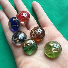 12pcs 20mm Handmade Bead Round LAMPWORK Glass multi Spacer beading Jewellery