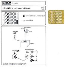 Marabu Models 1/72 SPITFIRE WHEEL DISCS Photo Etch Detail Set