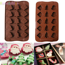 Christmas Silicone Cake Decorating Mould Candy Cookies Chocolate Baking Mold