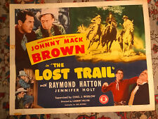 The Lost Trail 1945 Monogram western 22x28 half sheet Johnny Mack Brown