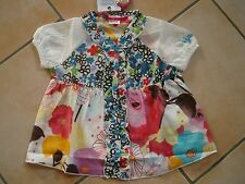 (25) Nolita Pocket Baby Bluse Blumen Muster A-Form Volants Logo Druck 9-12 Mon