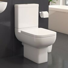 Short Projection 600mm Modern White Square Options Toilet (WC) & Soft close Seat