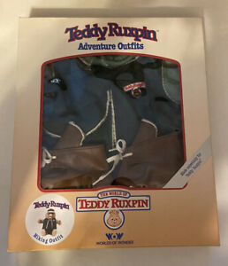 Vintage 80's Worlds of Wonder Teddy Ruxpin Adventure Hiking Outfit  NEW IN BOX