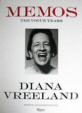 Diana Vreeland MEMOS THE VOGUE YEARS 1962 - 1971 Fashion Design 60s Hardcover