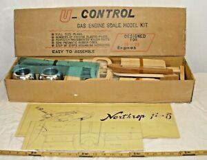 U-CONTROL NORTHRUP F-61 BLACK WIDOW AIRPLANE RC BALSA MODEL KIT BOXED NOS UNUSED