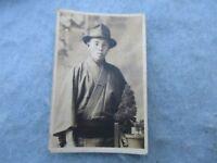 WWII US Army Captured Photo Japanese Civilian in Kimono Fedora New Guinea WW2