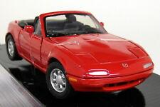 Motormax 1/24 Scale Mazda MX-5 Miata MK1 NA MX5 Eunos etc Red Diecast model car