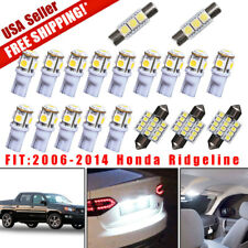 19X White Led Dome Map Lights Interior Package Kit For 2006-2014 Honda Ridgeline (Fits: Honda)