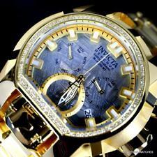 Invicta Reserve Magnum Meteorite Diamond Swiss Mvt Gold Plated 52mm Watch New