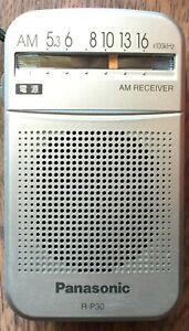 Panasonic R-P30 AM Portable Pocket Silver Radio