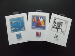 """London 2012 Paralympic Royal Mail Stamps & Postcards """"Venue Collection""""  Qty 3."""