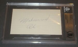 MUHAMMAD ALI Signed Index Card - Beckett Authenticated
