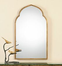 Gold Shaped Arch Wall Vanity Mirror | Unusual Curved