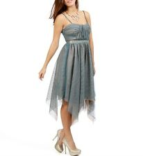Roberta $110 Teal Formal Prom Cruise Evening Party High Low Junior Dress size L