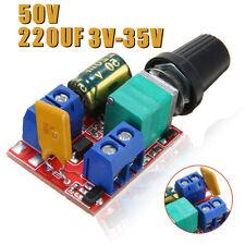 UK 3V-35V 12V 24V PWM DC Motor Speed Control Adjustable Switch LED Fan Dimmer