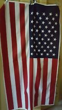 "Patriotic American Flag Fabric Panel 35"" x 60"""