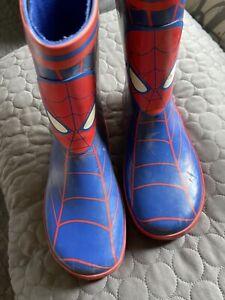 Boys Spiderman Rain Boots Kids Size 11