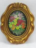 Shelia Harwood Parry Miniature Painting Botanical Flowers RMS & FRSA Oval