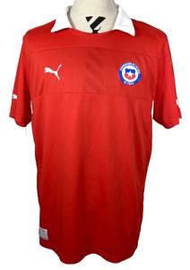 Chile 2012 - 2014  Soccer Jersey XXL 2XL Puma Federacion Futbol Home Red Shirt
