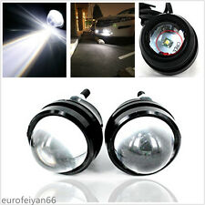 2 Pcs 12-24V White LED Fisheye Style Car SUV Projector Fog Lamps Running Lights