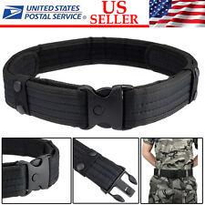 Woodland Camo Waistband Tactical Hunting Outdoor Sports Field Duty Belt BLACK