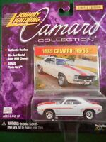 JOHNNY LIGHTING 1969 CAMARO RS/SS  - 1:64TH SCALE  DIE-CAST  WHITE
