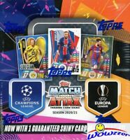 2020/21 Topps Match Attax Champions League UEFA Soccer HUGE 30 Pack Box-180 Card