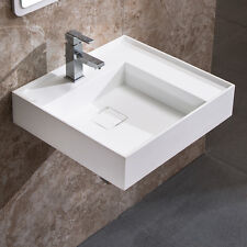 "DOWELL 24"" x 18 ACRYLIC WALL-MOUNT MODERN SINK IN WHITE"