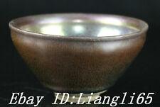 Markierte Song-Dynastie Jian Kiln Farbe Porzellan Bottich Crock Cup Bowl Bowls