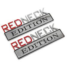 2pc 7 Chrome Redneck Edition Logo Emblem Decal Red Neck Sign Truck Boat Car Fits 1999 Jeep Wrangler