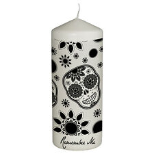 Remember Me Celebration Candle for Day of the Dead - Dia De Los Muertos Color