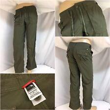 "The North Face Pants Sz 8 Green 100% Nylon 31"" Inseam Worn 1x YGI 9446"