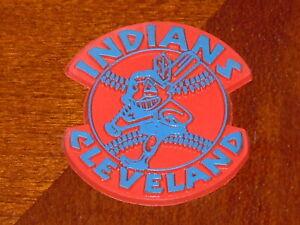 CLEVELAND INDIANS Vintage Old MLB RUBBER Baseball FRIDGE MAGNET Standings Board