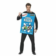 Adult Mens Cereal Serial Killer Funny Halloween Fancy Dress Costume Outfit Corn