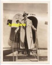 ROBERT TAYLOR ORIGINAL 8X10 PHOTO EXITS TWA THE LINDBERGH LINE AIRPLANE 1930's