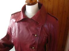 Ladies ARAYAL red real leather JACKET military steampunk size 42 UK 14 12